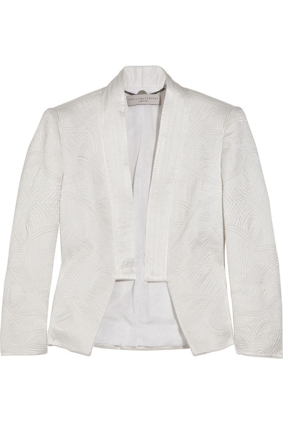 a075920a19a Lyst - Stella McCartney Quilted Satin Jacket in White