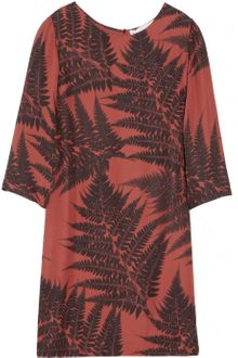Stella McCartney Leaf Print Silk Dress - Lyst