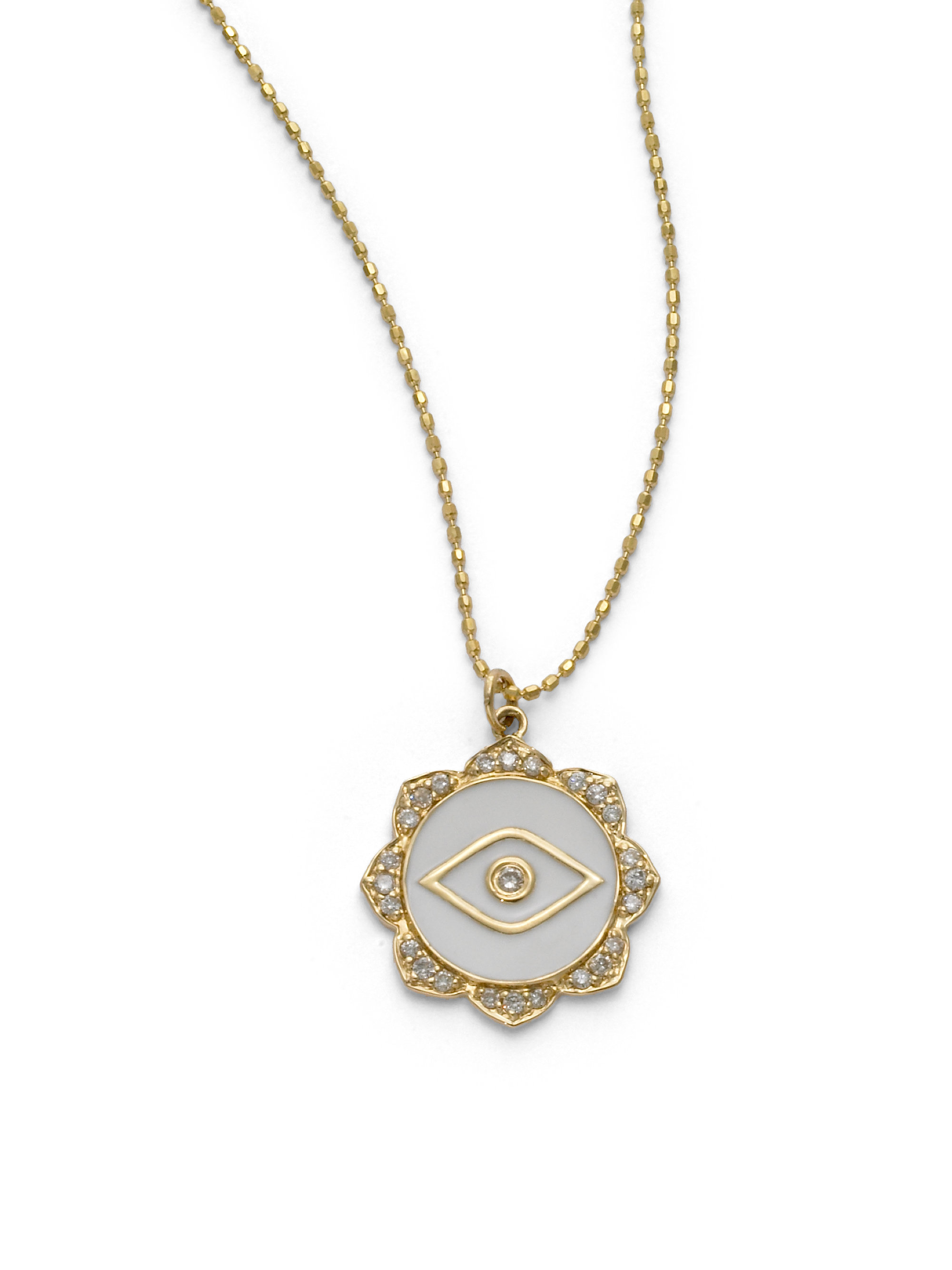 dainty paula diamond by eye zoom necklace alef sapphire bet jewelry and lucky evil loading