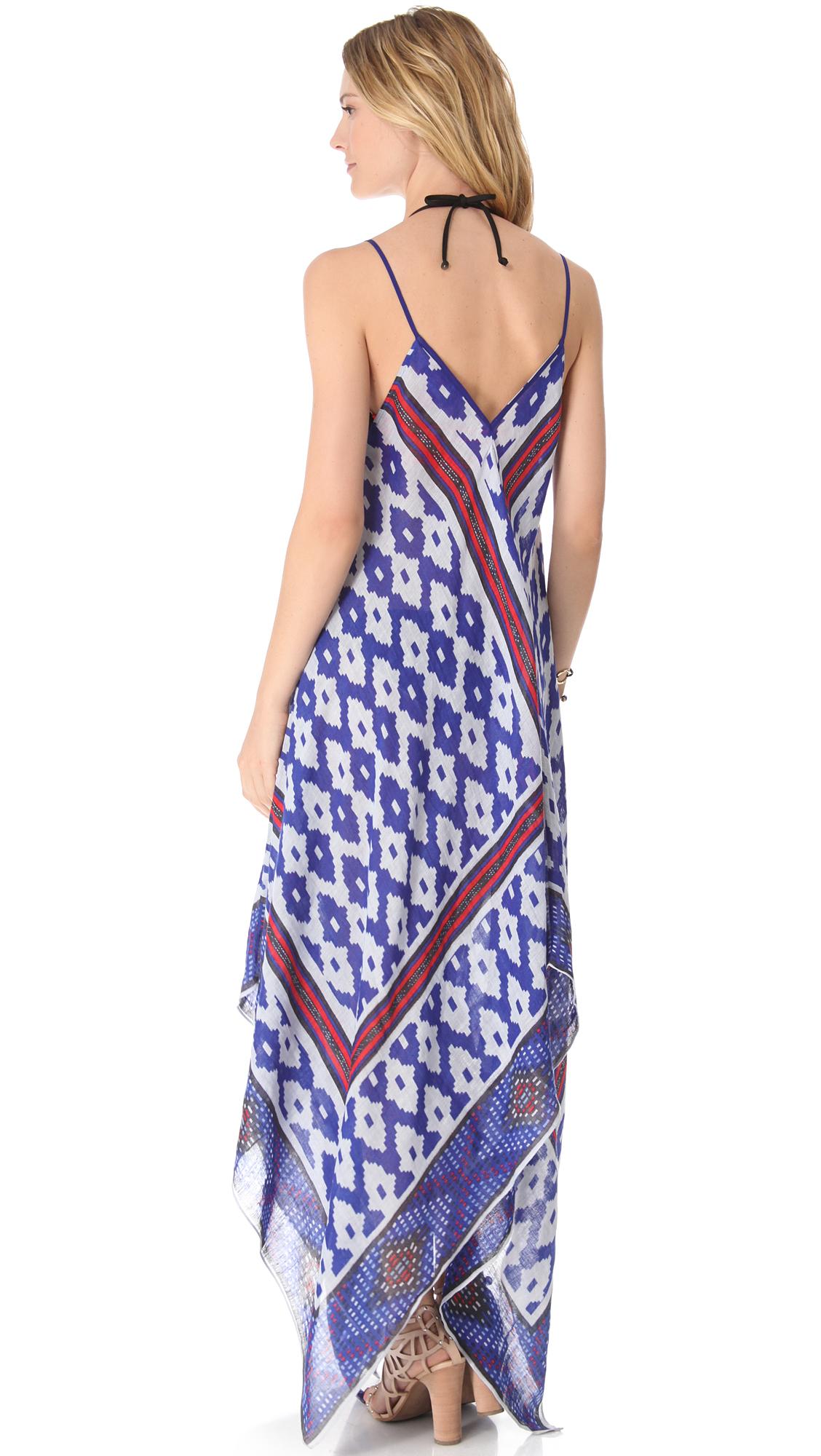 Lyst - Theodora & callum Amarillo Cover Up Dress in Blue