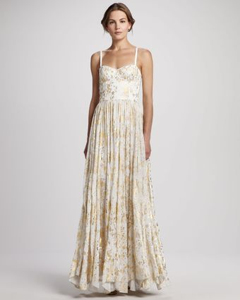 Alice + Olivia Yarra Bustier Maxi Dress - Lyst