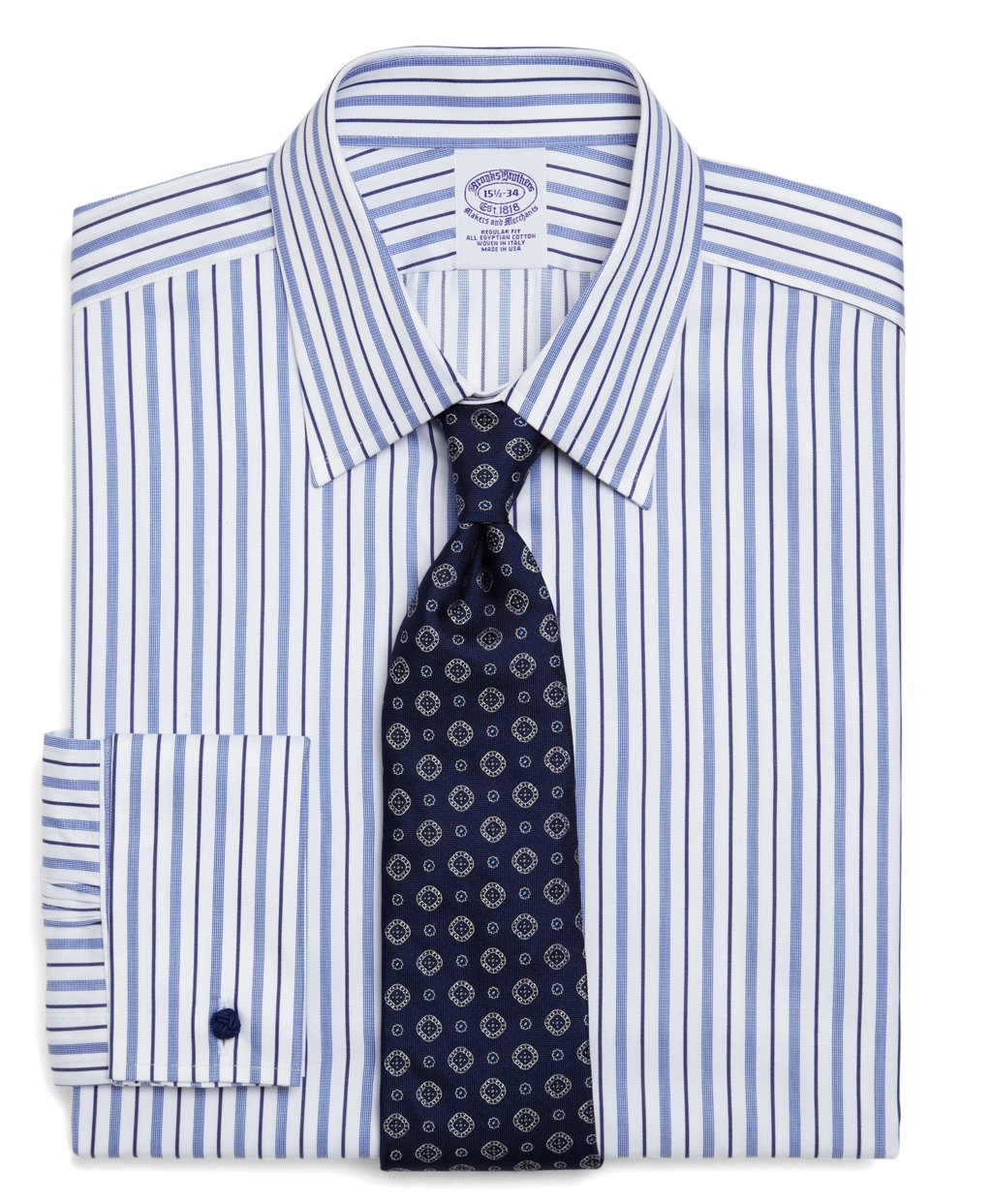 Brooks brothers egyptian cotton regular fit alternating for Mens egyptian cotton dress shirts
