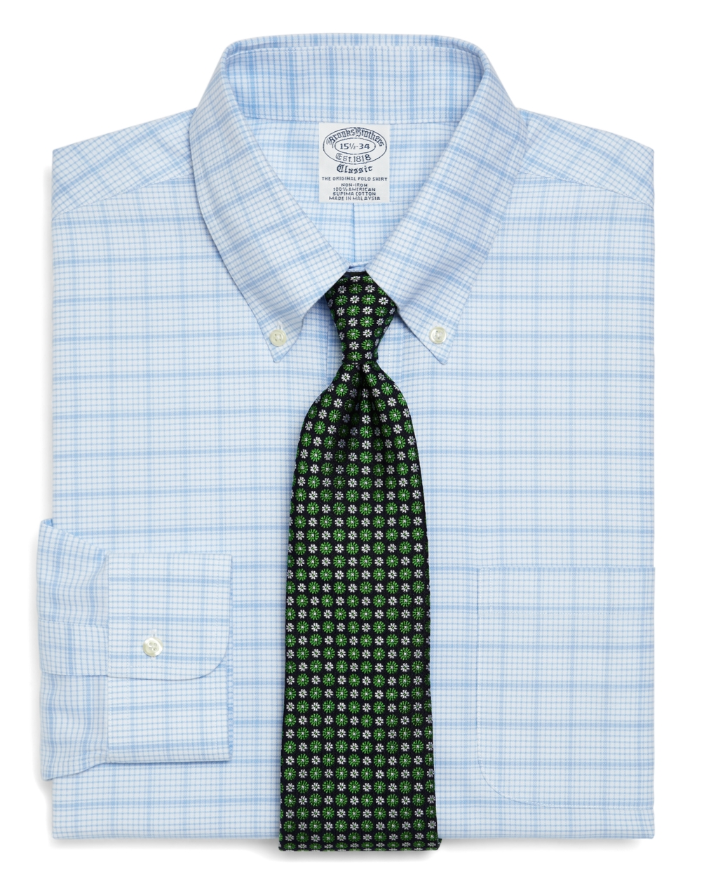 Brooks brothers supima cotton non iron slim fit micro for Supima cotton dress shirts