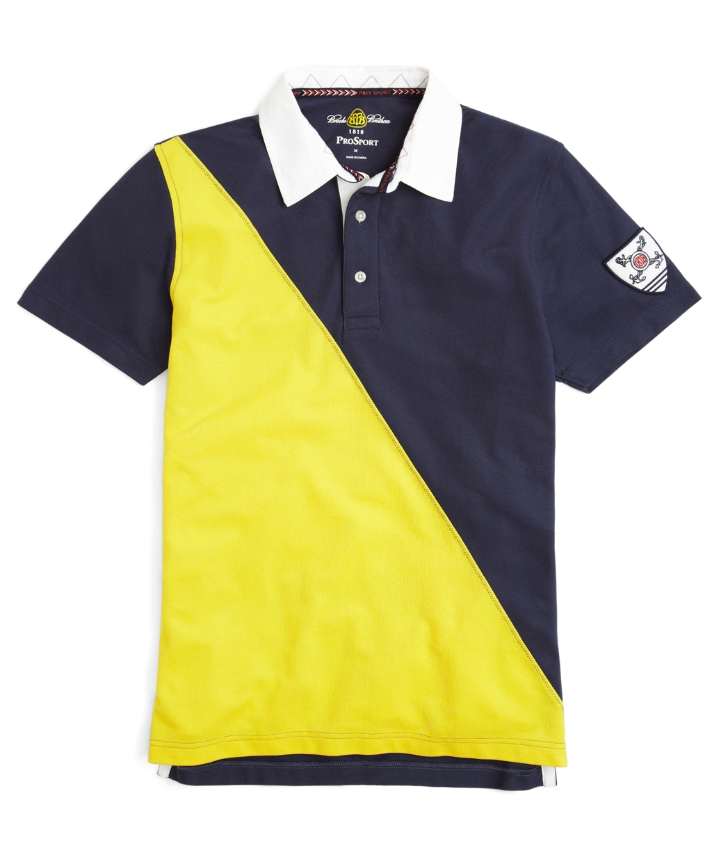 Brooks brothers prosporttm diagonal color block polo shirt for Polo color block shirt