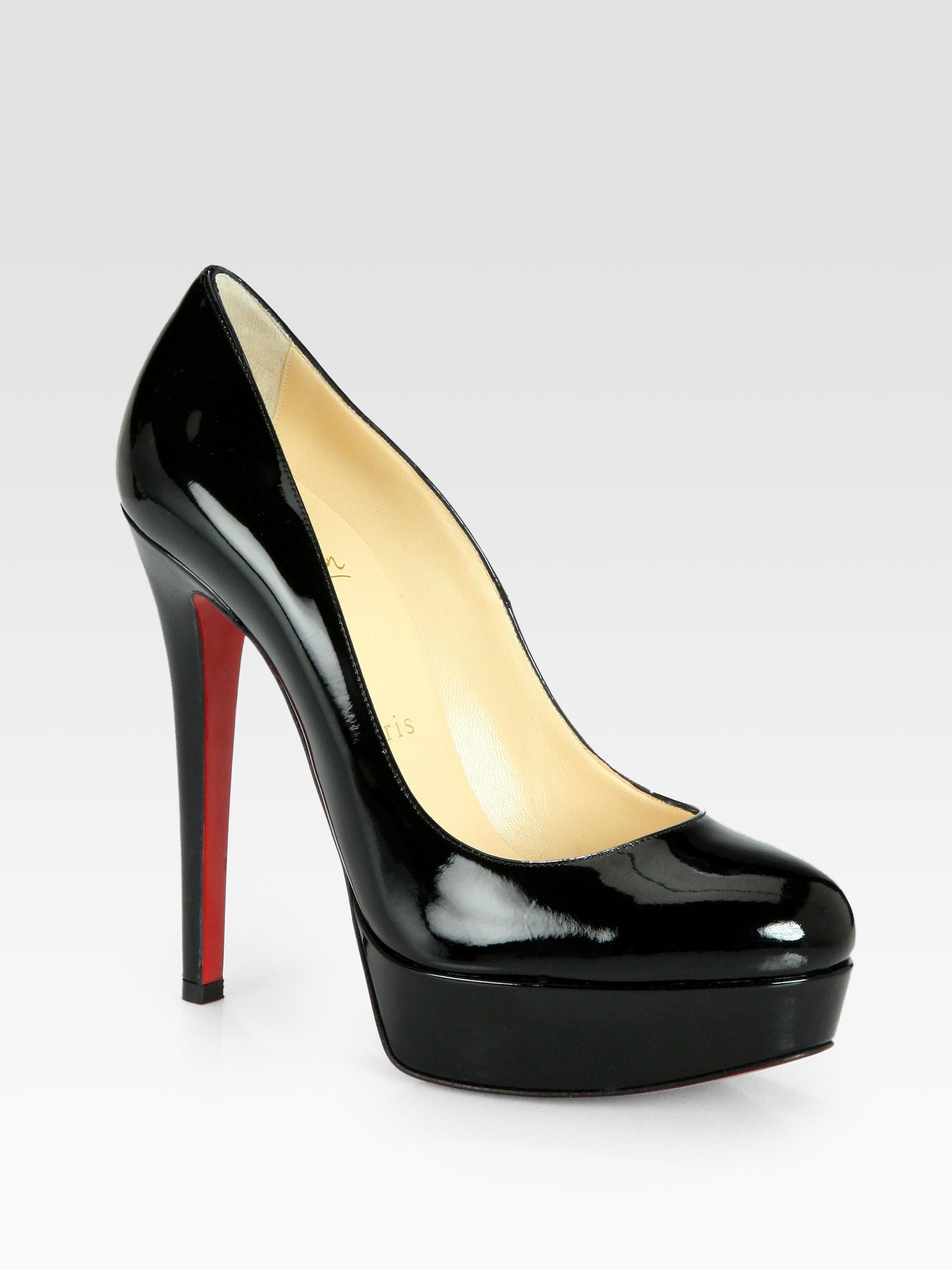 204940de1a4 Christian louboutin Bianca Patent Leather Platform Pumps in Black .