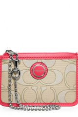 Coach Poppy Signature Sateen Metallic Id Skinny - Lyst