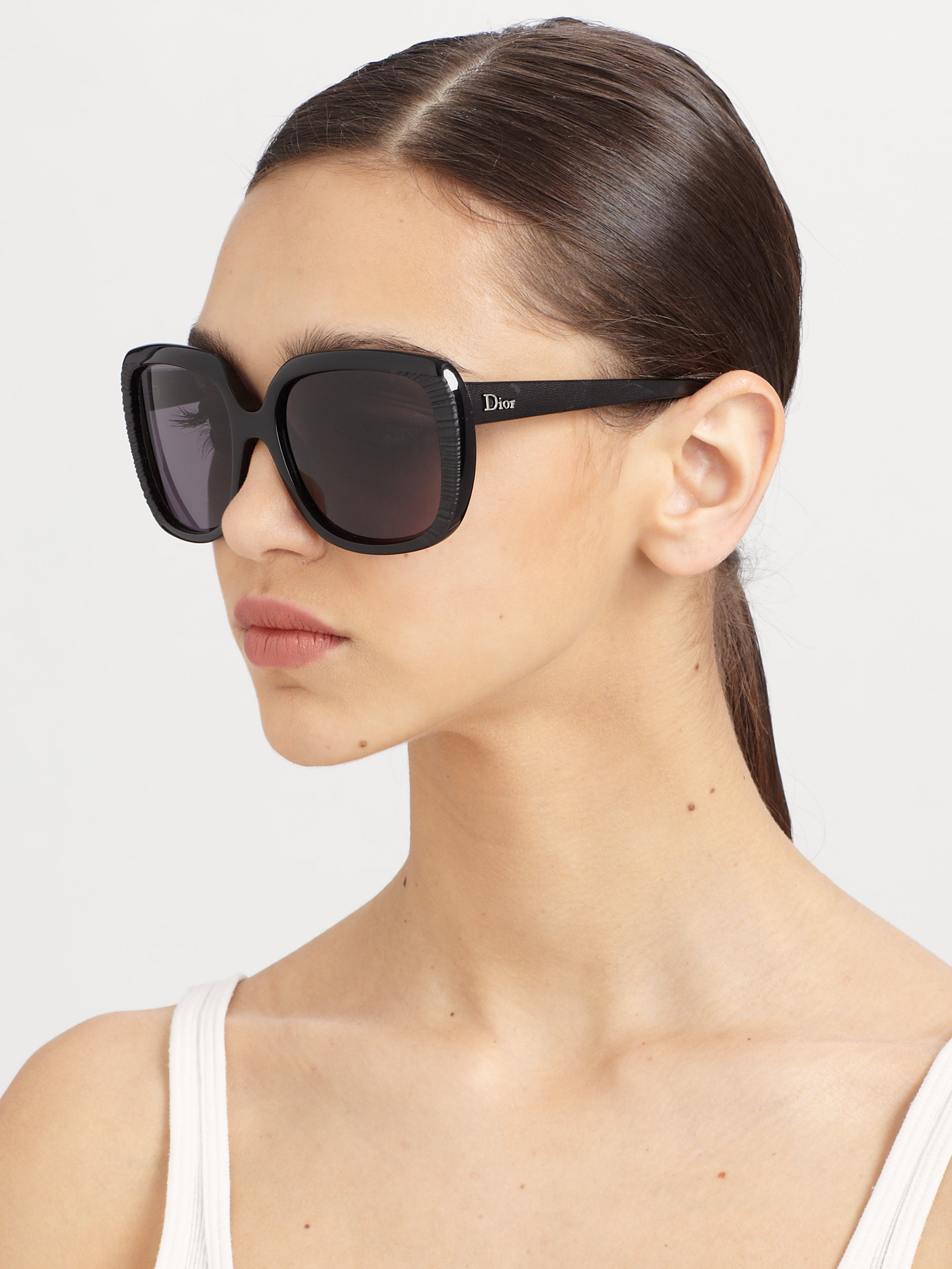 Lyst Dior Taffetas Square Sunglasses In Black