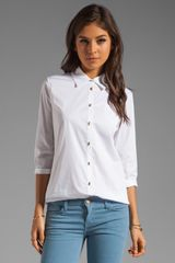 Elizabeth And James Jeweled Button Cohen Shirt - Lyst