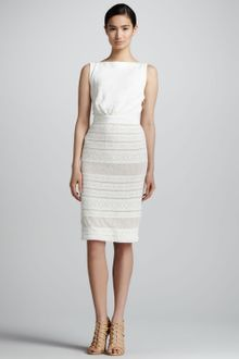Giambattista Valli Sleeveless Knit Dress with Lace Bottom - Lyst