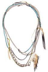 Iosselliani Long Fringed Necklace - Lyst