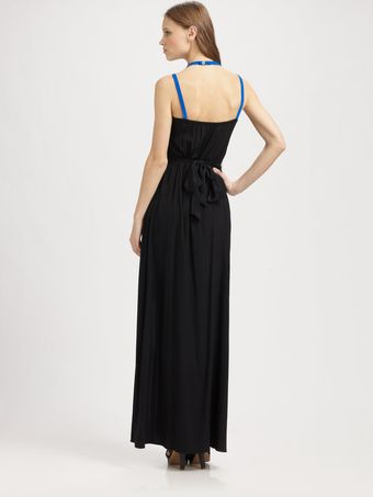 Jay Godfrey Silk Maxi Dress - Lyst
