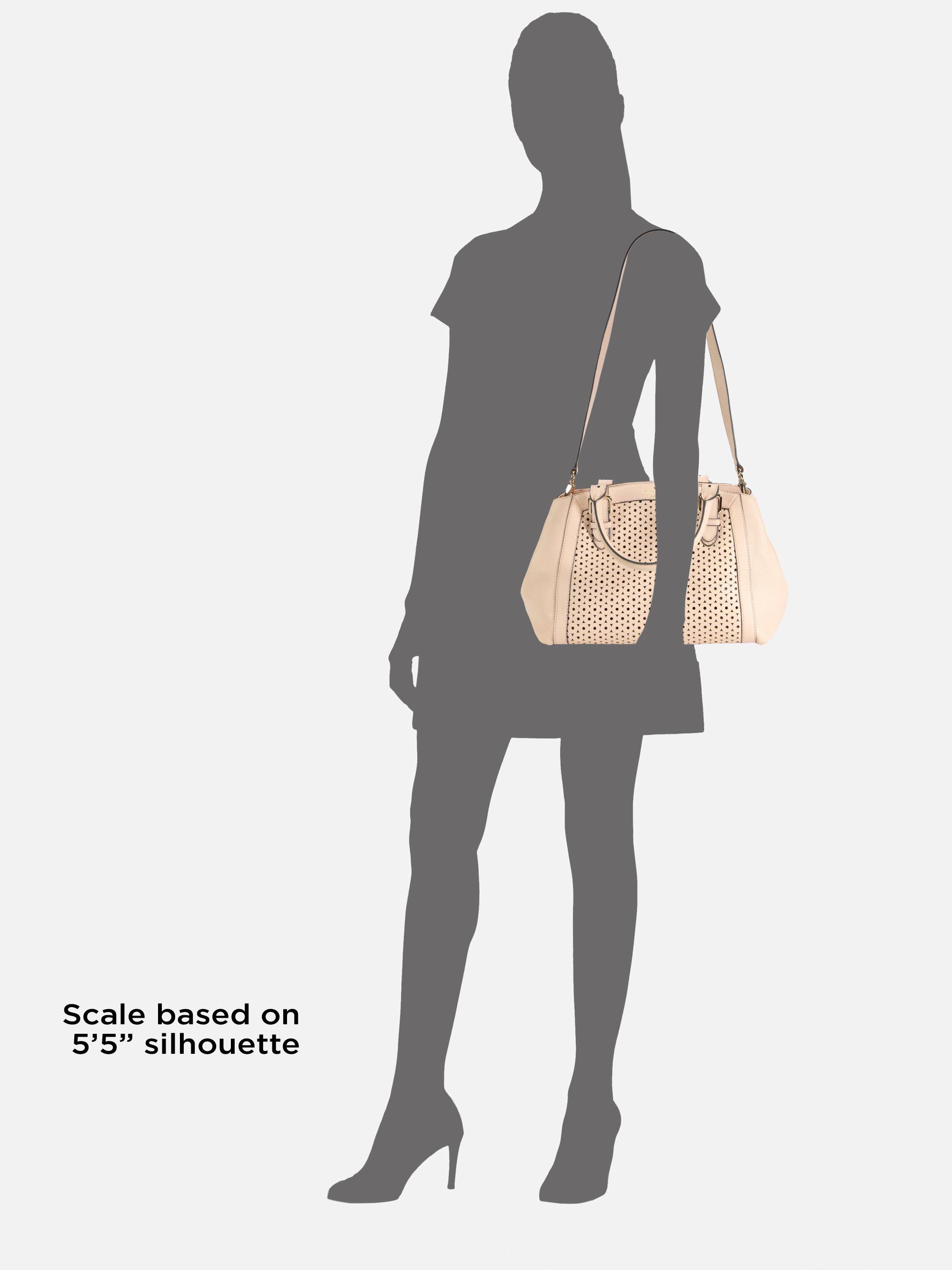 45f04b063951 Lyst - Kate Spade Mercer Isle Sloan Diecut Satchel in Natural