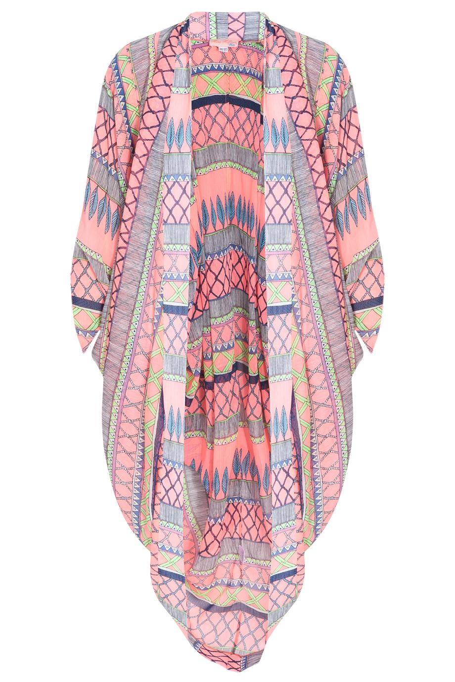 Mara hoffman Frida Chiffon Cocoon Kaftan in Pink   Lyst