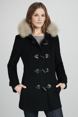 Marc New York By Andrew Marc Furtrim Toggle Coat - Lyst