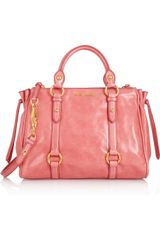 Miu Miu Leather Tote - Lyst