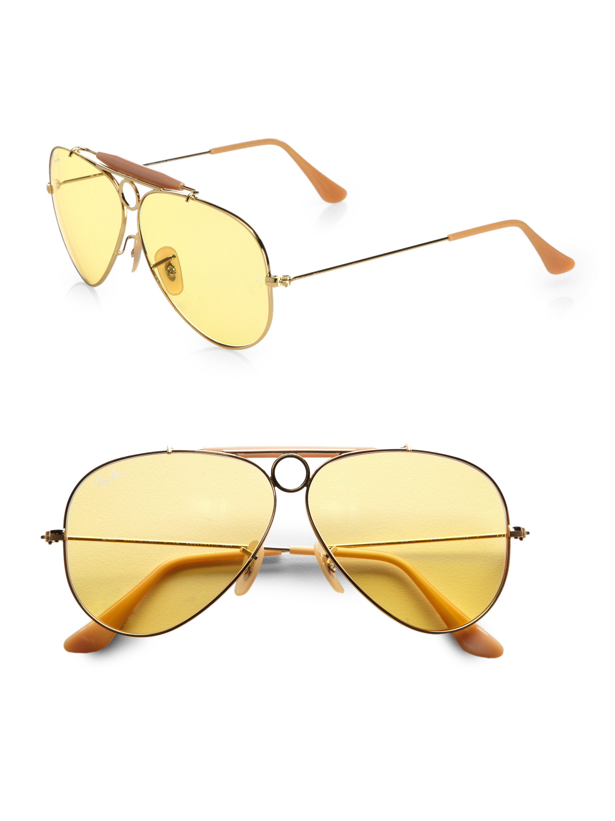 ffe48a35dac Ray Ban Aviator Shooter Yellow « Heritage Malta