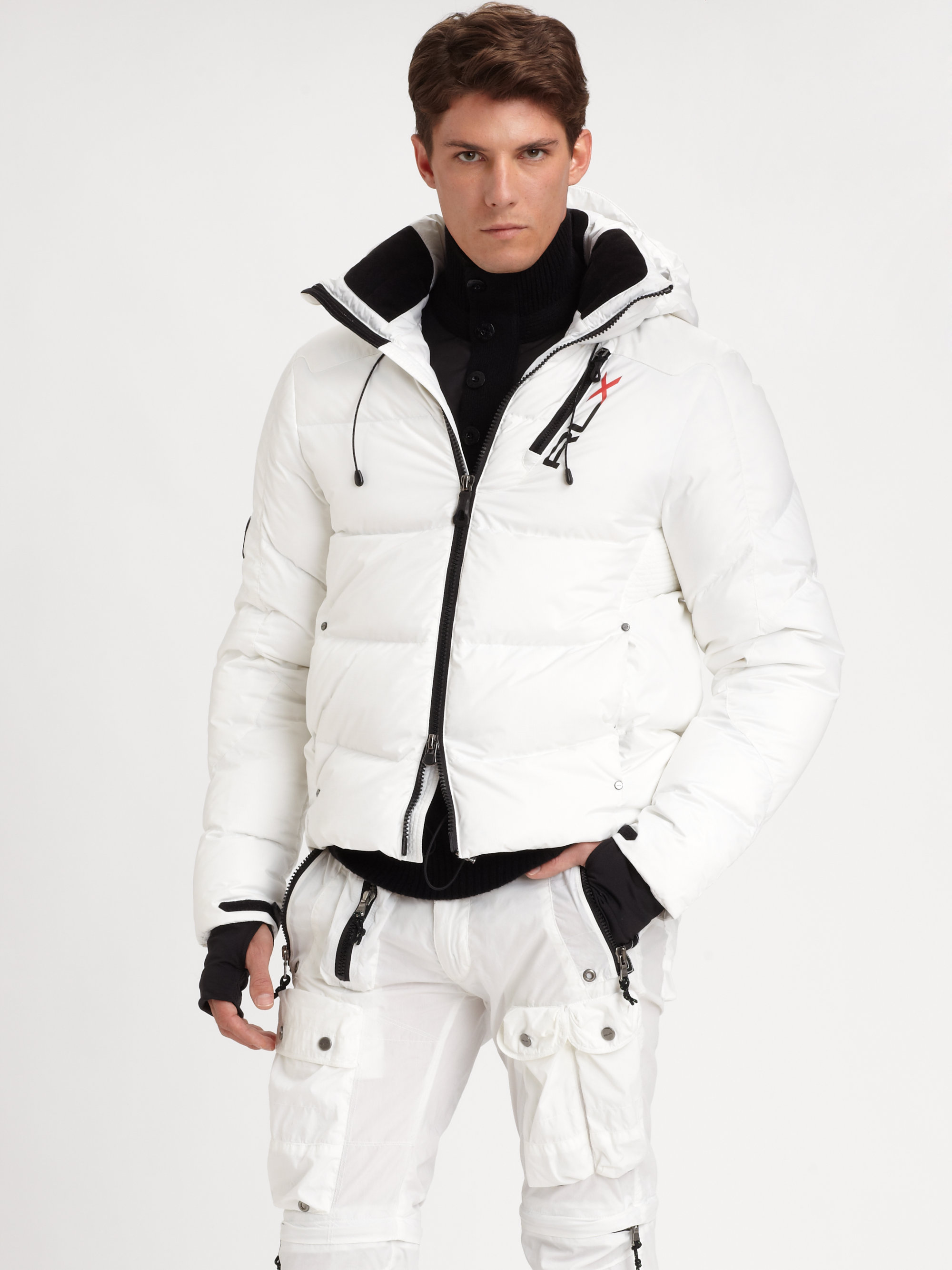 Rlx Ralph Lauren Xm Core Down Jacket In White For Men Lyst