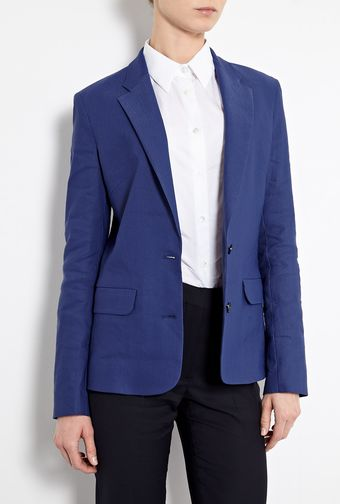 Acne Cindy Linen Stretch Blazer - Lyst