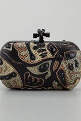 Bottega Veneta Butterfly Snakeskin Clutch Bag - Lyst