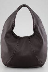 Bottega Veneta Cervo Leather Hobo Bag Espresso - Lyst