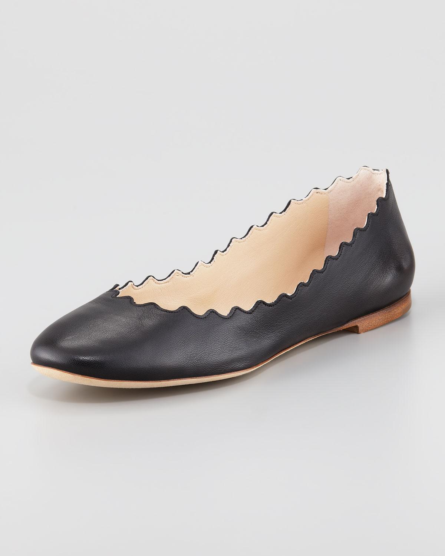 Lauren studded ballerina shoes - Black Chlo kvVQTXBMv