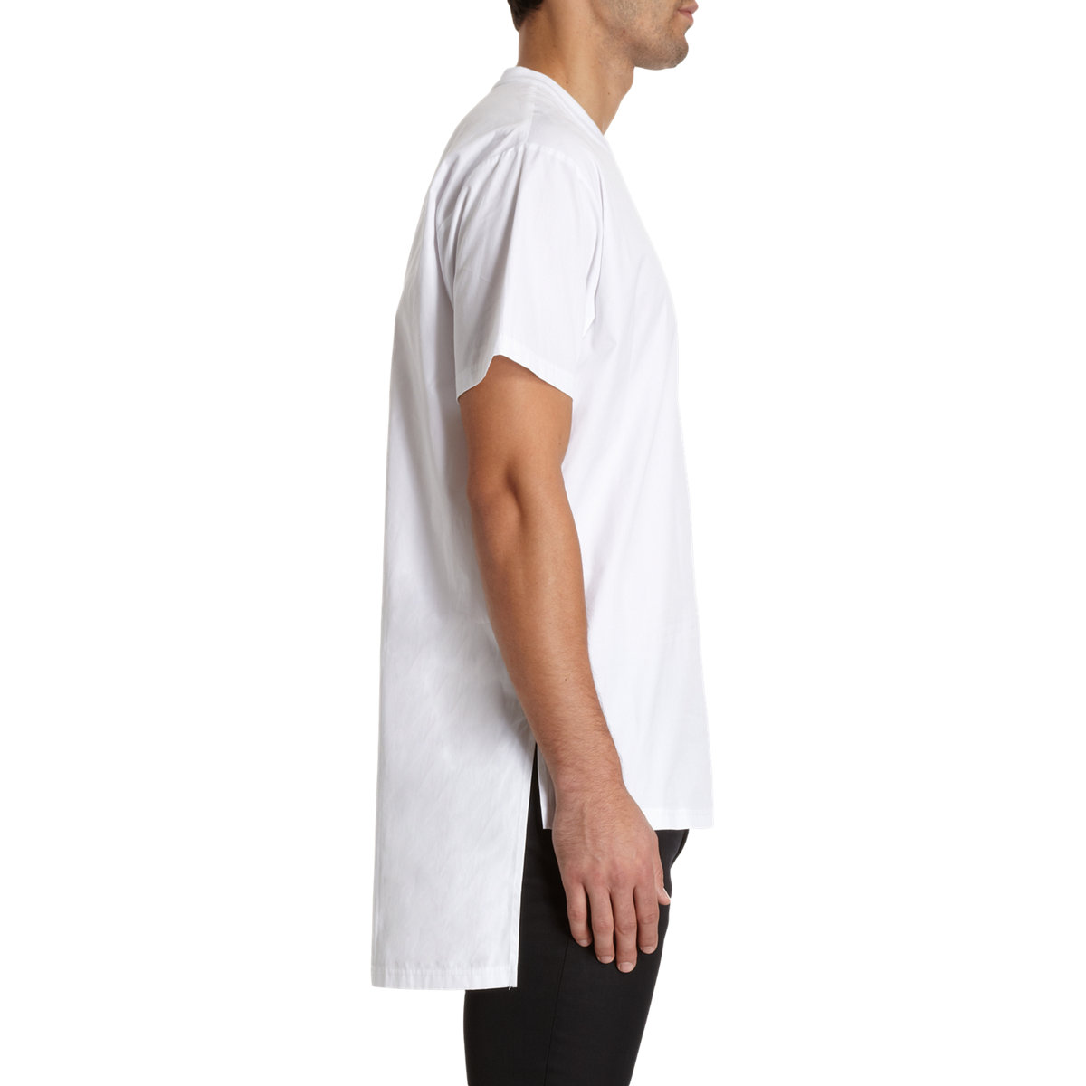 Givenchy long back short sleeve t shirt in white for men for Short sleeve t shirts with longer sleeves