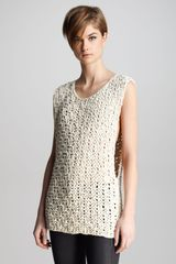 J Brand Ready-to-wear Drew Macrame Sleeveless Sweater - Lyst