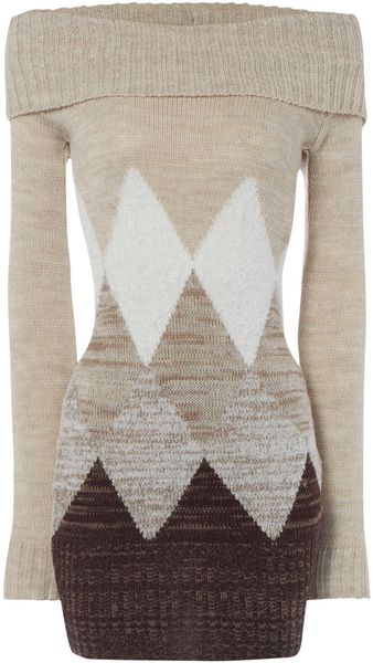 Jane Norman Diamond Tunic Jumper - Lyst