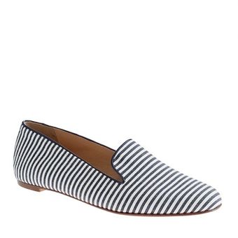 J.Crew Striped Loafers - Lyst
