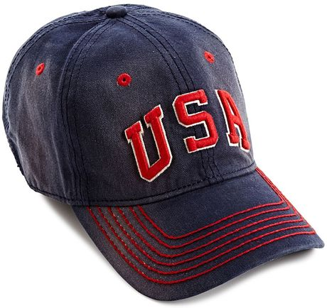lucky brand usa baseball hat in blue for navy lyst