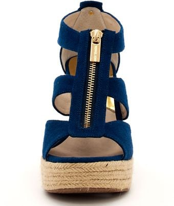Michael Kors Damita Canvas Wedge - Lyst