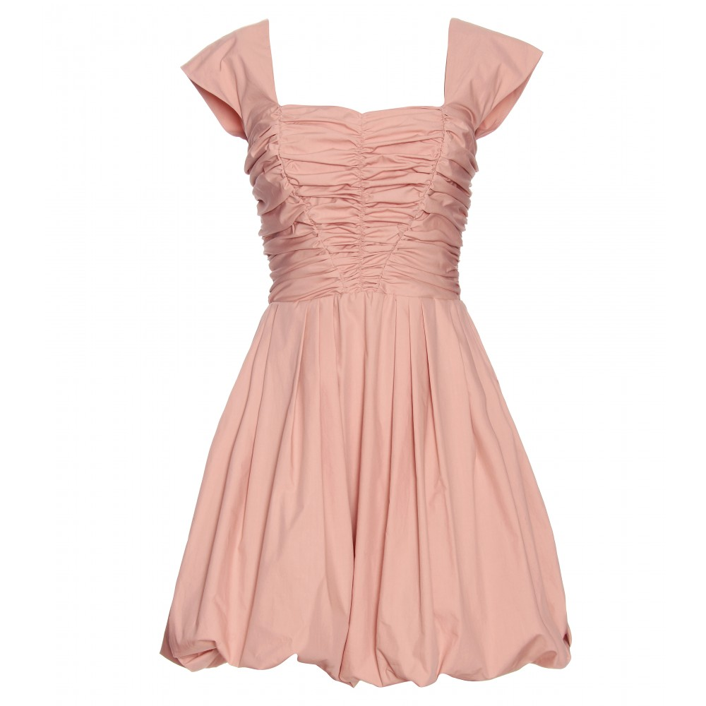 Wedding Ruched collection ruched dress pictures fashion trends and models miu with bubble skirt in pink lyst