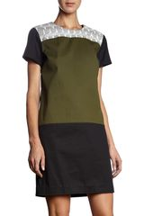 Proenza Schouler Colorblock Short Sleeve Dress - Lyst