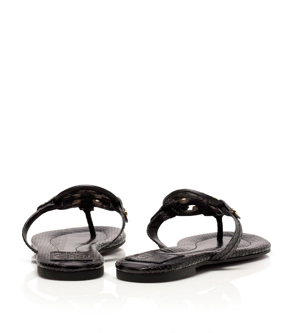 83a74cae126c Lyst - Tory Burch Snake Print Miller 2 Sandal in Black