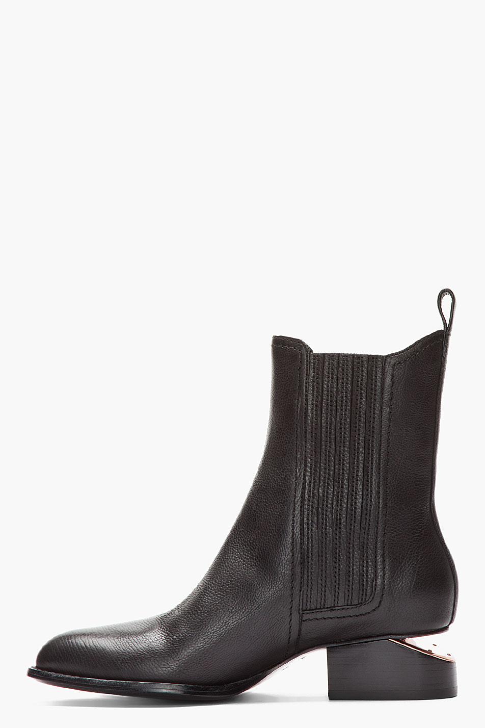 alexander wang anouck chelsea boots in black lyst. Black Bedroom Furniture Sets. Home Design Ideas