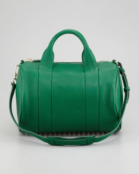 alexander wang rocco studbottom duffel bag green in green. Black Bedroom Furniture Sets. Home Design Ideas