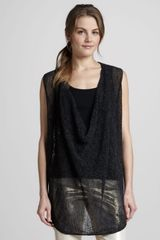 Alice + Olivia Cristiana Sleeveless Draped Sweater - Lyst