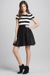 Alice + Olivia Laurelle Striped Combo Dress - Lyst