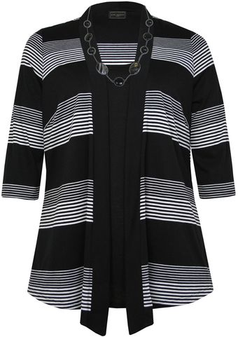 Ann Harvey Black Stripe Outer 2in1 - Lyst