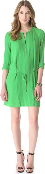 Diane Von Furstenberg Pleated Dress - Lyst