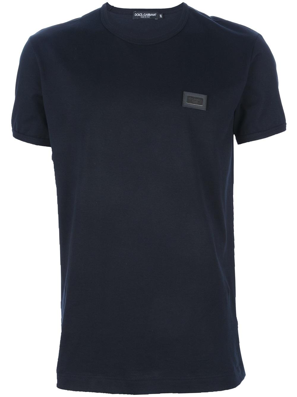 dolce gabbana logo t shirt in blue for men black lyst. Black Bedroom Furniture Sets. Home Design Ideas