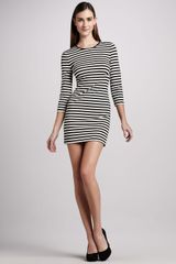 Kate Spade Angie Striped Knit Dress - Lyst
