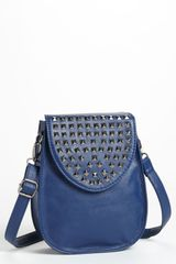 Natasha Couture Studded Flap Crossbody Bag - Lyst