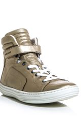 Pierre Hardy Metallic Leather Hightop Trainers - Lyst