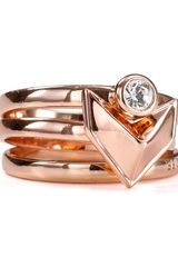 Rebecca Minkoff Stackable Heart Rings Set Of 3 - Lyst