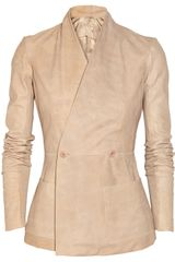 Rick Owens Hollywood Textured-leather Jacket - Lyst