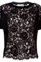 Valentino Lace Knit Top