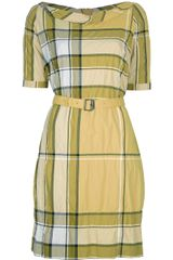 Burberry Brit Belted Checked Print Dress - Lyst