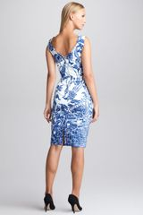 Emilio Pucci Printed Twill Sheath Dress - Lyst
