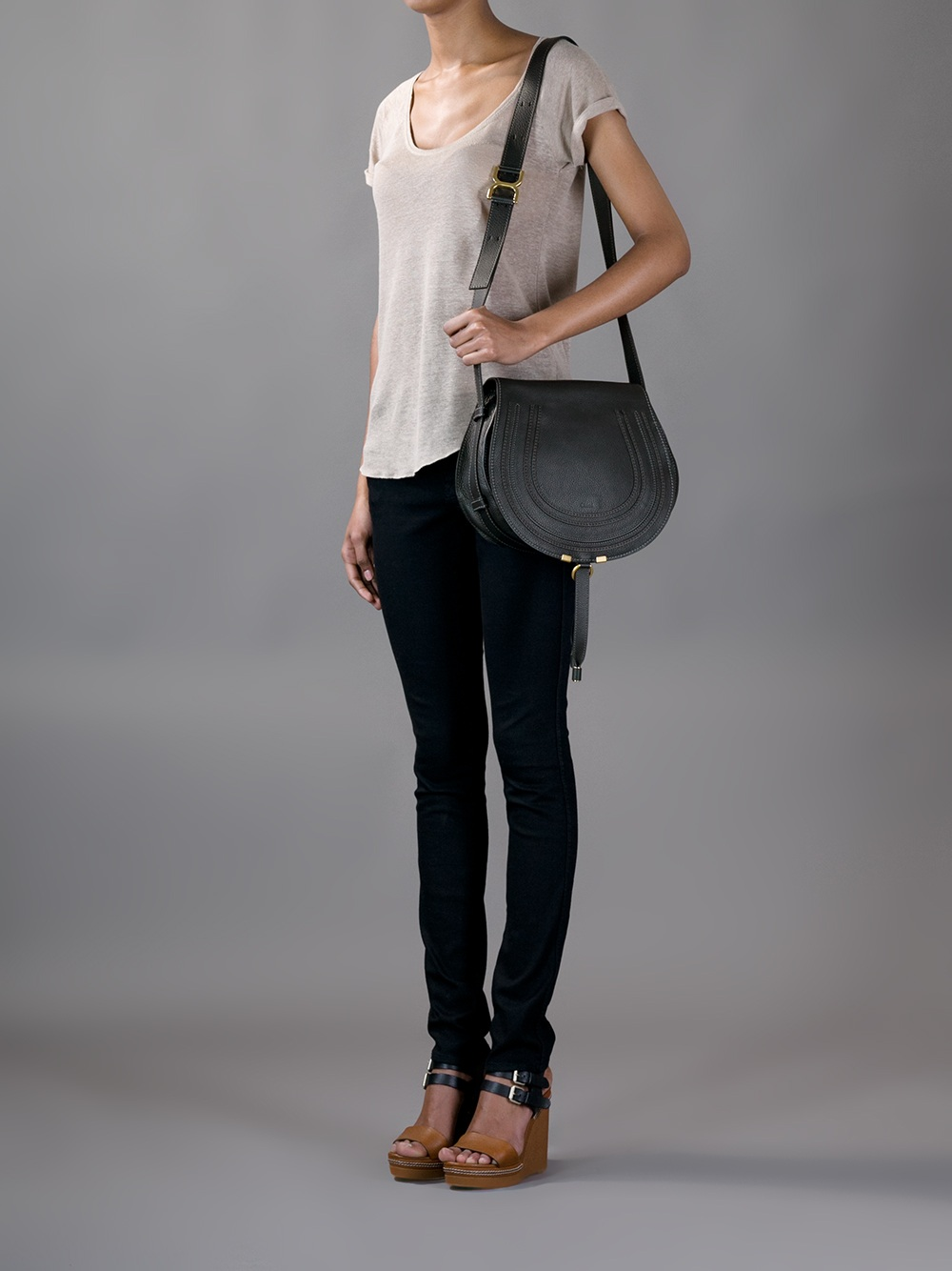 chloe marcie saddle bag see by chloe bags shop online. Black Bedroom Furniture Sets. Home Design Ideas